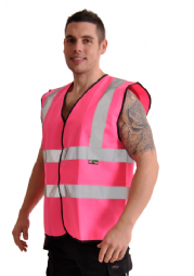 Corporate Wear Fluorescent Pink Vest